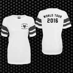5 Seconds of Summer - 2016 White Dated Baseball Top