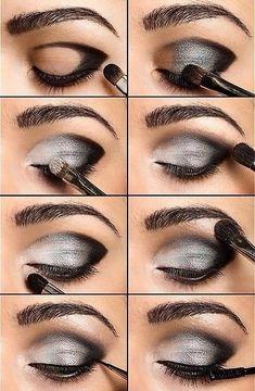 White, Grey & Black - Smokey Eye Tutorial #Beauty #Trusper #Tip