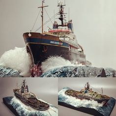 "1,353 Likes, 8 Comments - Usina dos Kits (@usinadoskits) on Instagram: ""Amazing!!! Salvage Tug ""SMITWUS"" diorama. Modeler Robind Models #scalemodel #plastimodelismo…"""