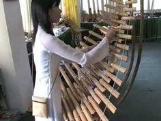 Bamboo Musical Instruments, Reunification Palace, Ho Chi Minh City, Vietnam. January 2006.wmv