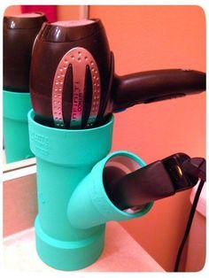 DIY hair styling tool holder :)