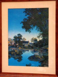 Vintage Parrish Art Peace Of Evening   Art Nouveau by CrystalCreek, $265.00