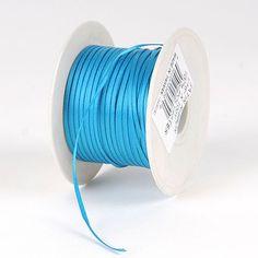 Satin Ribbon 1/16 x 100 Yards Turquoise - 1/16 inch x 100