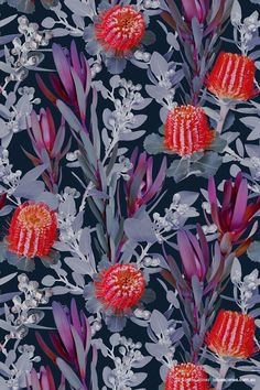 'Australia Pattern' textile design by Louise Jones.