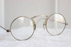 30s Round Glasses 1920's Eyeglasses Silver Wire by THAYEReyewear, $89.00