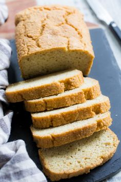 This paleo sandwich bread is easy to make fluffy light and perfect for any type of sandwich! You can toast in and make breakfast sandwiches have a BLT or top with almond butter fruit preserves and bananas for a healthy grain free and paleo treat. Paleo Sandwich Bread, Toast Sandwich, Breakfast Sandwiches, Healthy Sandwiches, No Bread Diet, Keto Bread, Vegan Bread, How To Make Breakfast, Paleo Breakfast