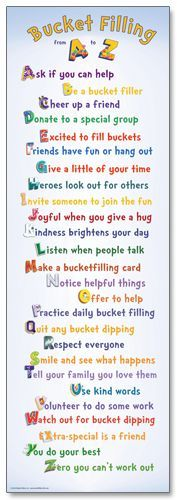 """Bucket Filling from A to Z"" Poster 16 #bucketfilling:"