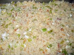 Southern Cornbread Dressing Dolly's Southern Cornbread Dressing Before Baking. Try with sausage!Dolly's Southern Cornbread Dressing Before Baking. Try with sausage! Soul Food Cornbread Dressing, Old Fashioned Cornbread Dressing, Homemade Cornbread Dressing, Chicken Dressing, Turkey Dressing, Stuffing Recipes, Homemade Stuffing, Turkey Recipes, Casserole Recipes