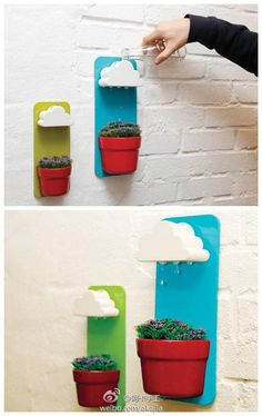 Rainy Pot | Fun and Easy Indoor Herb Garden Ideas