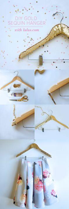 Sequin hanger.