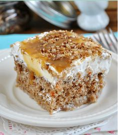 best cooking recipes: Better Than Easter… Carrot Cake Poke Cake