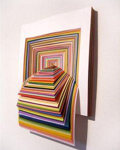 Rainbow construction paper art - SUPER FUN!