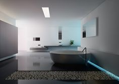 Boffi bathroom render with lighting design from SketchUp _