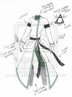 wizards outfit concept except the symbol is the Deathly Hallows symbol