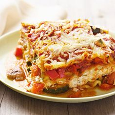 Crockpot Veggie Lasagna. This is my favorite recipe for Lasagna right now. I've cooked it for house guests and it's been a guest pleaser!! Love it!