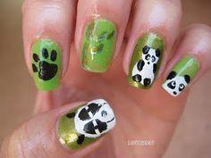 Pandas! Nail Art Designs, Nails, Pretty, Beauty, Pandas, Cutest Animals, Finger Nails, Ongles, Nail Designs