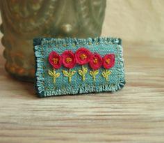 frayed edges stitched to back fabric
