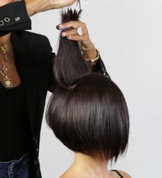 HOW-TO: A-Line Undercut Bob #behindthechair #hairstylist #haircut #bob #hairdresser