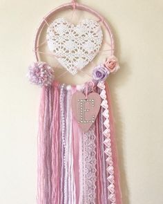 Your place to buy and sell all things handmade Girls Bedroom, Nursery Decor, Bedroom Decor, Lace Dream Catchers, Wiccan Crafts, Crochet Dollies, Best Friend Birthday, With Love, My Little Girl