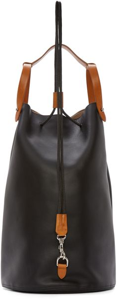 Jil Sander Black Leather Runway Backpack