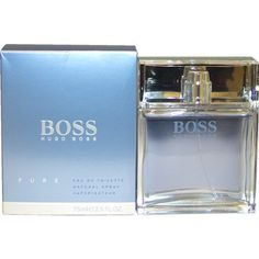 Boss Pure by Hugo Boss 75ml 2.5oz EDT Spray by Hugo Boss. $36.59. This item is not for sale in Catalina Island. Packaging for this product may vary from that shown in the image above. Launched by the design house of Hugo Boss in 2008, BOSS PURE is a men's fragrance that possesses a blend of lily, hyacinth, citrus, , massoia wood, fig waterWhen applying any fragrance please consider that there are several factors which can affect the natural smell of your skin and, ...