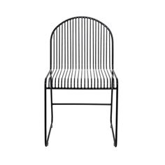 Beautiful metal chair from the interior brand from Denmark; The Bloomingville Friend dining chair has a strong black metal frame with playful .