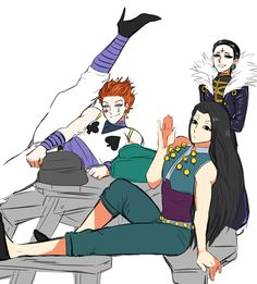 Hisoka Illumi zoldyck and chrollo lucilfer Hunter x Hunter cute