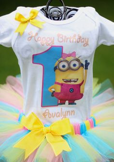 Despicable Me Birthday Outfit Minion by TwistinTwirlinTutus