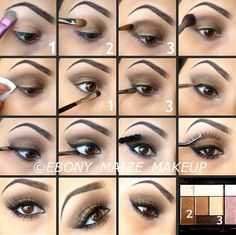 Makeup Ideas with Step by Step Eyebrow Makeup with Step by step eye makeup | Makeup