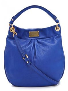 Bold blue Marc by Marc Jacobs bag -- not a fan when I first saw it, but it's growing on me!