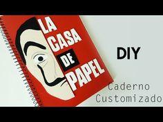 DIY: Como Fazer um Caderno LA CASA DE PAPEL #diyseriados   Ideias Personalizadas - DIY - YouTube