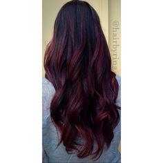 blackcherry hair violet red hair