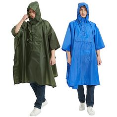 Season:Summer,Spring,Autumn / Fall,Winter; Gender:Men's,Women's; Activity:Running,Outdoor,Camping / Hiking / Caving,Traveling,Climbing,Fishing; Clothing Type:Top,Poncho; Age Group:Adults'; Function:Breathable,Sweat wicking,Lightweight,Quick Dry; Sports Clothing Sub Category:Rain Poncho,Waterproof Hiking Jacket,Hiking Raincoat; Listing Date:04/14/2021 Fall Winter Spring Summer, Blue Army, Hiking Jacket, Rain Poncho, Poncho Tops, Winter Springs, Quick Dry, Sport Outfits, Climbing