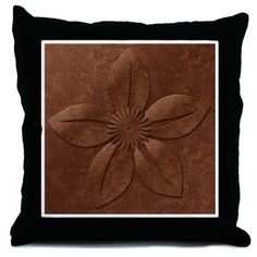 Old Copper Vintage Style Floral Throw Pillow