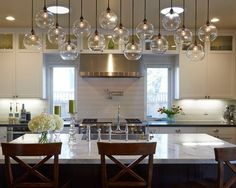 Image result for lighting ideas over kitchen island