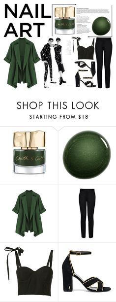 """Green With Envy: Wintery Nail Polish"" by ageo-85 ❤ liked on Polyvore featuring beauty, Smith & Cult, NARS Cosmetics, STELLA McCARTNEY, Rosie Assoulin, Yves Saint Laurent, Winter, black, GREEN and ootd"