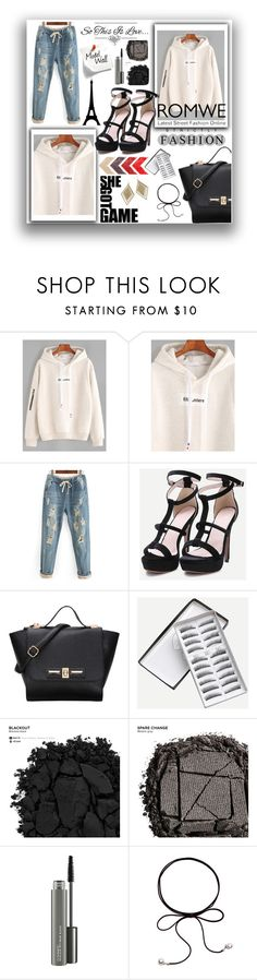 """""""ROMWE"""" by naida-piric ❤ liked on Polyvore featuring WALL, Urban Decay and MAC Cosmetics"""