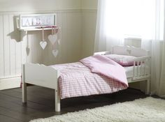 Heart Junior Bed Frame - There's some great kids beds on this site. Pink Bedding, White Bedding, Triple Bunk Beds, Junior Bed, Childrens Beds, Little Girl Rooms, Kid Beds, Bed Frame, Bedroom Furniture