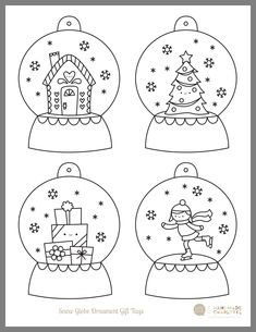 Coloring Pages Colors Preschool Christmas Mood, Noel Christmas, Christmas Colors, Christmas Decorations, Christmas Ornaments, Christmas Activities, Christmas Printables, Globe Ornament, Christmas Drawing