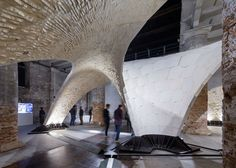 Armadillo Vault Beyond Bending Block Research Group Eth Zurich. Photo by Iwan Baan | Yellowtrace