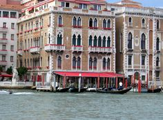 Hotel Bauer  Venice- stayed here on the Grand Canal