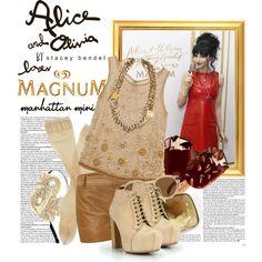 """MAGNUM Ice Cream & Alice + Olivia !"" by cherrybomb101 on @Polyvore"