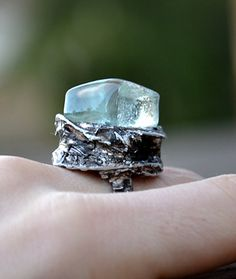 Hey, I found this really awesome Etsy listing at https://www.etsy.com/uk/listing/178260623/glass-cube-ice-crystal-ring-minimalist