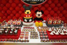 Mickey mouse Theme party birthday By www.ateliediadealegria.com.br Belo Horizonte - Brasil