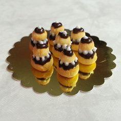 Miniature 1:12 - Religieuses au chocolat - Marine