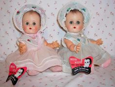 "1950's IDEAL Toy Co. 14""  Betsy Wetsy -- Twin in Blue -- w/ Layette"