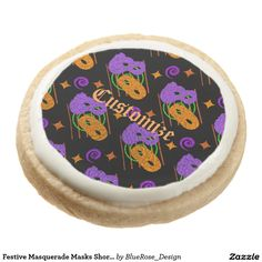 Shop Festive Masquerade Masks Shortbread Cookies created by BlueRose_Design. Shortbread Cookies, Oreo Cookies, Sugar Cookies, Halloween Party Supplies, Custom Napkins, Party Hacks, Masquerade Masks, Cookie Gifts, Chocolate Covered Oreos