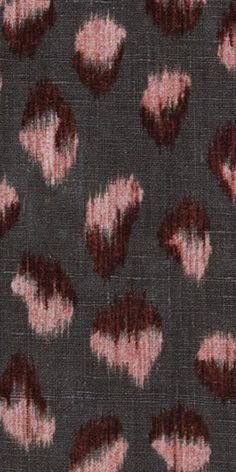 KELLY WEARSTLER | FELINE FABRIC. In Graphite/Rose