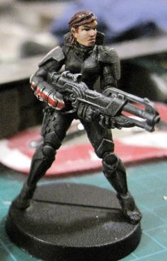 Infinity miniature, converted to Commander Shepard from Mass Effect.