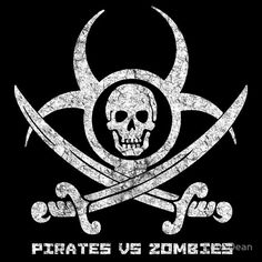 Pirates vs Zombies : Logo (light) with text
